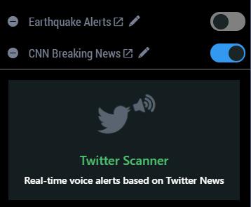Twitter Scanner - setting